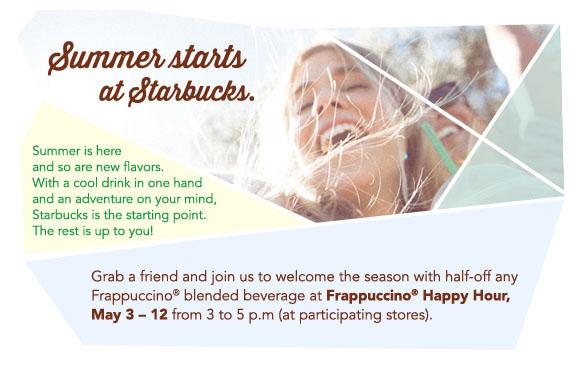 Summer starts at Starbucks