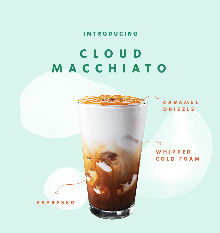 Introducing Cloud Macchiato | Caramel Drizzel | Whipped Cold Foam | Espresso